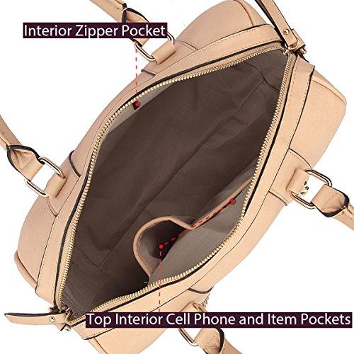 Vegan with for Lady Strap Women Bags Handbags Without Wallet Purses 6805 Bag Structured Single Shoulder Satchel Leather Barrel Shoulder Designer Black 171fp
