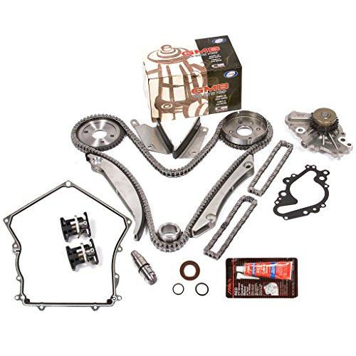 Evergreen TKTCS5028HWP 02-06 Chrysler Dodge V6 2.7L EER Timing Chain Kit GMB Water Pump (NGC Cam Gear) Timing Cover Gasket (Gasket Upper Cover Timing)