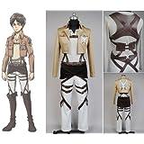 Jeylu Shingeki No Kyojin Ataque en Titan Eren Jaeger Cosplay Disfraz UE tamaño