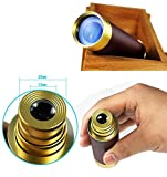 FDorla-Waterproof-Monocular-25x30-Zoomable-Vintage-Pirate-Adjustable-Telescopic-Monocular-Optics-Telescope-Aluminum-Alloy-Copper-for-Navigation-Sailing-Voyage-View-Watching-Games