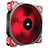 Corsair ML140 Pro LED, Red, 140mm Premium Magnetic Levitation Cooling Fan, CO-9050047-WW