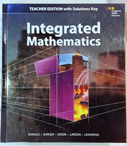 Hmh Integrated Math 1: With Solutions 2015