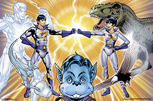 (Trends International Super Friends-Wonder Twins Mount Bundle Wall Poster, 22.375