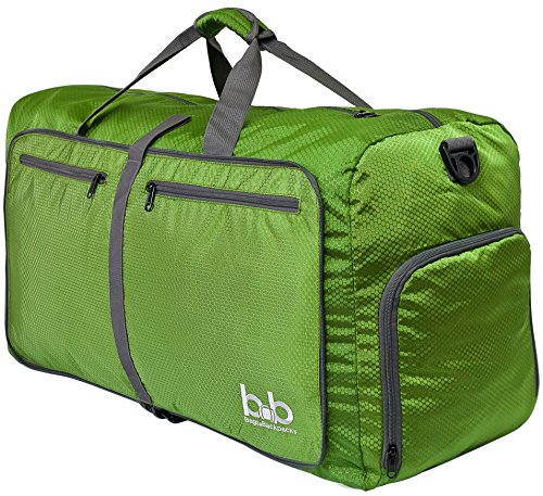 Access Rolling Backpack (BB Bags&Backpacks - 80L Gym Duffle Bag with Pockets - Packable Duffle for Men and Women - Foldable Lightweight Travel Bag)