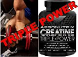 Creatine Triple Power 5000mg 4 Bottles by Absonutrix- 480 Tablets Xtreme Stamina – Xtreme Strength – Xtreme Endurance Review