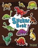 Sticker Book: Dinosaurs Blank Sticker Book for Kids, Sticker book Collecting Album: Blank book pages - 80 pages Size is 8' x 10' (Blank Sticker book for Kids, Boys, Girls,Teen)