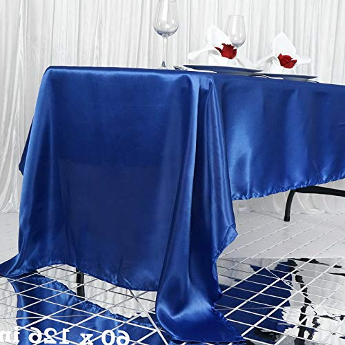 Mikash 60x126 Satin Rectangular Tablecloth Dining Wedding Party Restaurant Decorations | Model WDDNGDCRTN - 16587 |