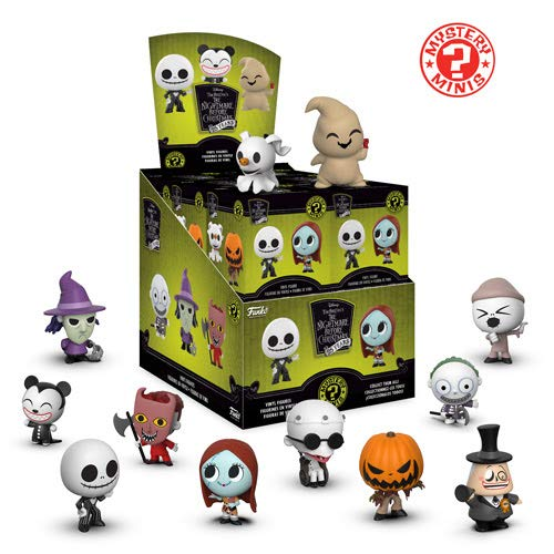 Funko Mystery Minis: Disney Tim Burton's The Nightmare Before Christmas 25th Anniversary Collectible Figure Display Case of 12 Figures