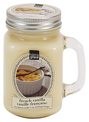 Kiera Grace Mason Mug Jar Candle, 13 oz, French Vanilla
