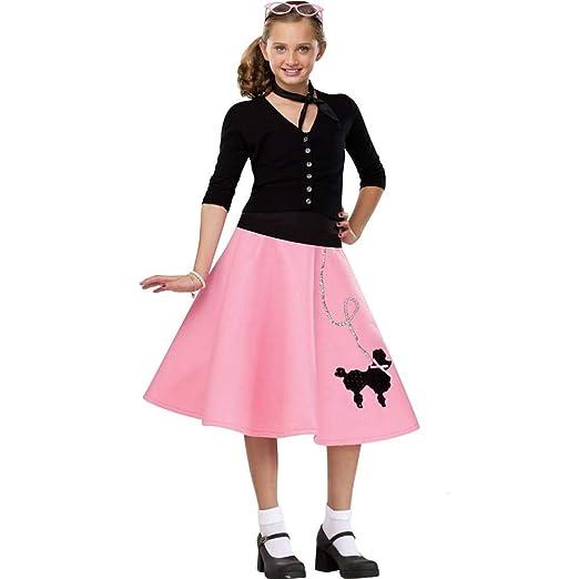 Kids 1950s Clothing & Costumes: Girls, Boys, Toddlers Kids 50s Poodle Skirt $27.68 AT vintagedancer.com