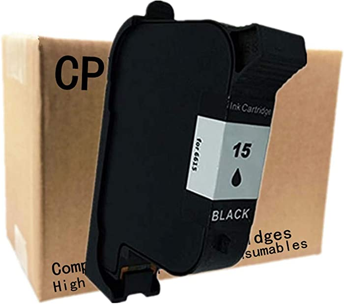 No-name Remanufactured Ink Cartridges Replacement for HP 15 XL HP15 Fax 1220xi PSC 900 940 950vr 950xi 500 500xi 700 750xi 760 DesignJet 700 750c 750c for Apple Stylewriter Color 6500 (1 Black)