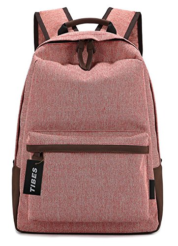 Tibes Vintage Canvas Unisex Backpack Large Red