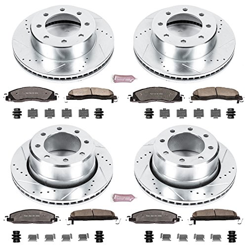 Power Stop K5458-36 Front & Rear Z36 Truck and Tow Brake Kit