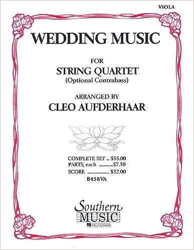 Book Wedding Music: Viola Part by Cleo Aufderhaar (1990-01-01)