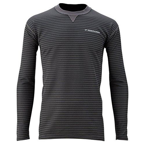 ハヤブサ フリーノット 光電子 レイヤーテック アンダーシャツ 中厚手 Y1618 チャコール (M~3L)の商品画像