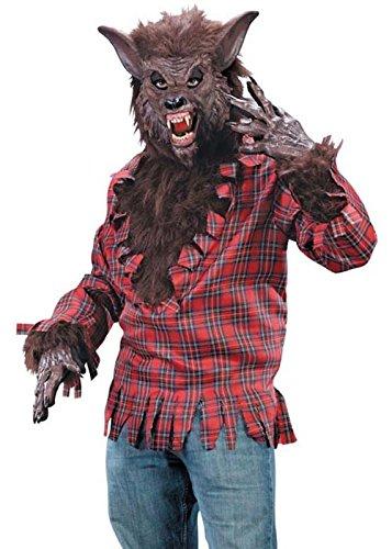 Erwachsene Halloween Herren braun Werwolf-Kostüm