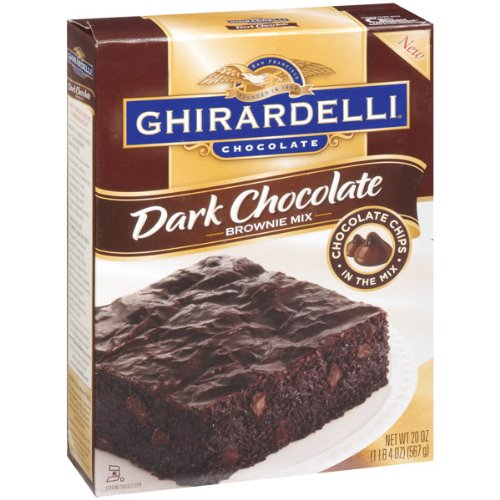 Ghirardelli Brownie Mix, Dark Chocolate, 20 oz