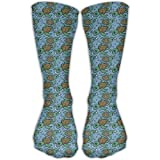Cute Sea Turtle Swim Sports Running Long Socks Novelty High Athletic Sock Unisex
