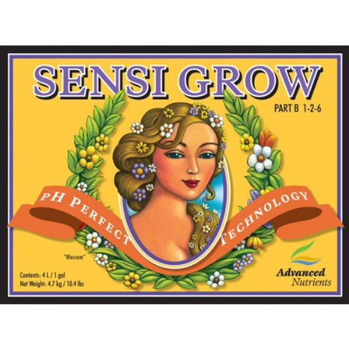 Sensi Grow Part - 10 Liter - Sensi Grow - Part A and B - Veg Nutrient - pH Perfect Technology - Advanced Nutrients 6271-16