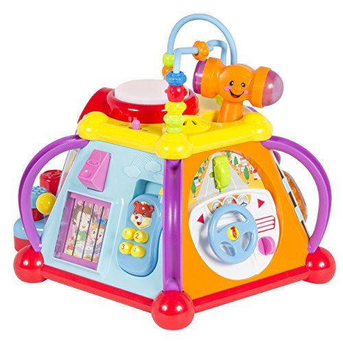 - Best Choice Products Musical Activity Cube Toy Game Play Center W/ Lights, Sounds & 15 Functions