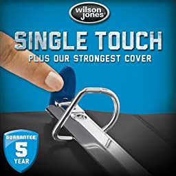 Wilson Jones Ultra Duty D-Ring View Binder with Extra Durable Hinge, 5 Inch, Customizable, White (W86650)