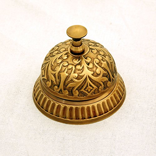 Victorian Table Decorations (Ectoria EC12-002 Solid Brass Victorian Style Service / Hotel / Counter/ Desk Bell)
