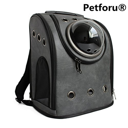 Pet Carrier Backpack  Petforu Space Capsule Dog Cat Small Animals Travel Bag   Dark Grey