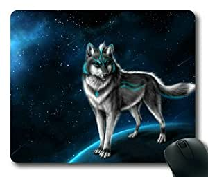 Lilyshouse Cool Wolf 002 Rectangle Mouse Pad by ruishername