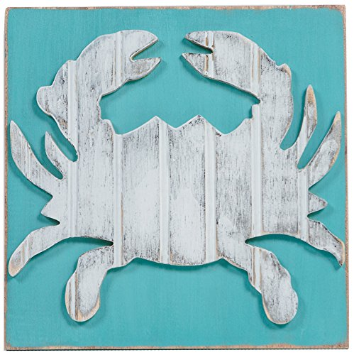 Wooden Crab (Grace Graffiti Coastal Crab Wooden Wall Art, 12
