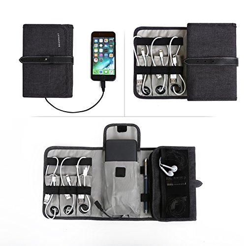 Bagsmart Compact Travel Cable Organizer Portable