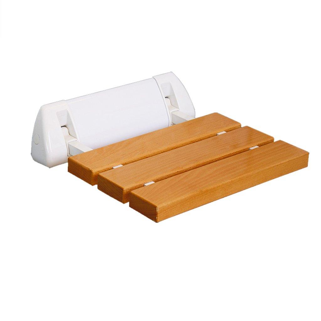 シャワーバススツールシャワー折りたたみチェアシートバスルームシャワーウォールチェアウォールシューズウォールアンチスリップスツール (材料 : B) B07DFHXPP6