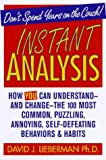 Instant Analysis, David J. Lieberman, 0312155549