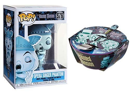 Lady Ghost Phantom Opera Singer Disney Haunted Mansion Pop! Figure Bundled with Bowl & Spoon Set Spooky Creepy Times 2 Items