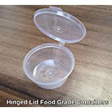 Plastic 35ml Hinged Lid Deli Pot or Sauce Pot (Pack of 50)