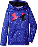 Under Armour Girls' Armour Fleece Big Logo Novelty Hoodie,Constellation Purple /Black, Youth X-Small