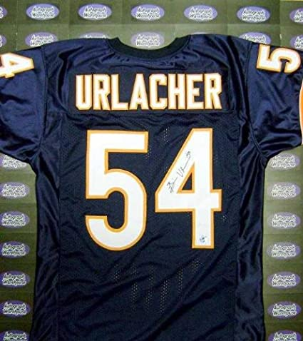 8154bbba982 Autographed Brian Urlacher Jersey - Future Hall of Famer XL Authenticity  Hologram - Autographed NFL Jerseys