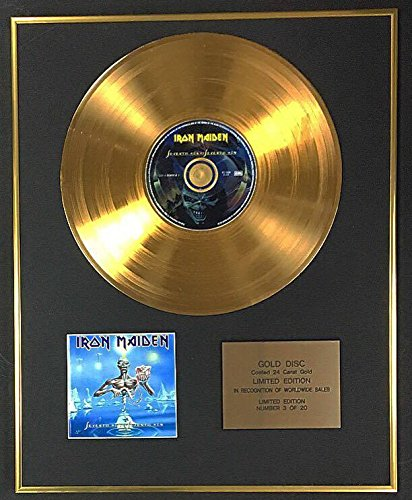 Iron Maiden - Exclusive Limited Edition 24 Carat Gold Disc - Seventh Son Of A Seventh Son Century Music Awards