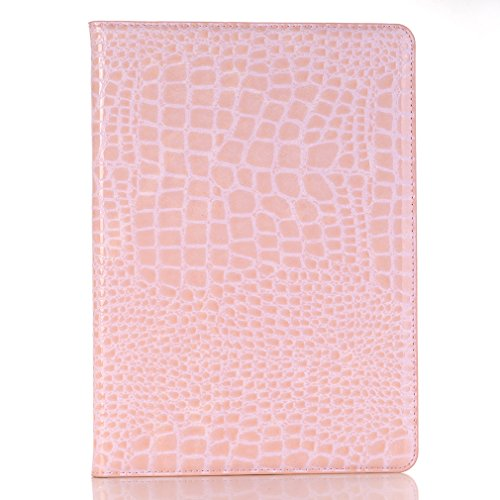 Thin M3 Sleep Slot 10 LMFULM Wake Business 1 Lite 10 Folding Bookstyle Function for and Grain Auto of Case Leather MediaPad Cover Closure Card Huawei Leather Ultra Crocodile Pink PU Inch Magnetic Stent 4IHcIFOr