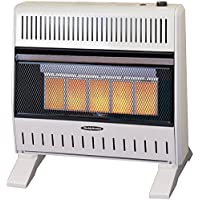 Sure Heat IRH26NLTD Dual Fuel Has 5 Ceramic Plaque IR Wall or Floor Mount Heater, 26K BTU, Beige/Tan