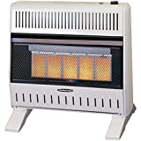 Sure Heat IWH26IRNG 5 Ceramic Plaque IR Wall or Floor Heater with Thermostat Blower Natural Gas, 26K BTU, Beige/Tan