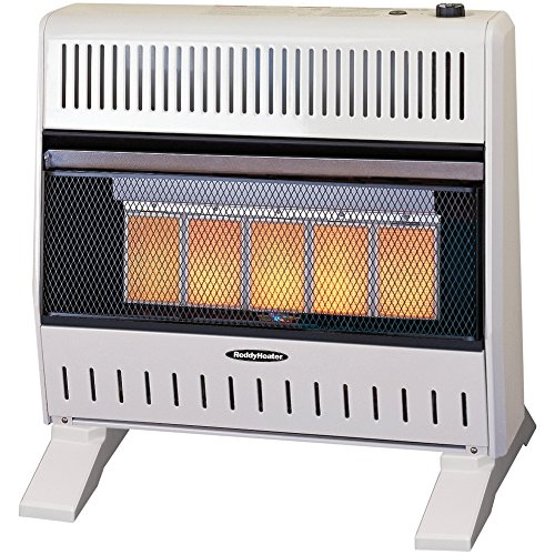 Sure Heat IWH26IRLP Thermostat Blower Liquid Propane 5 Ceramic Plaque IR Wall or Floor Heater, 26K BTU, Beige/Tan Built In Liquid Propane Heater