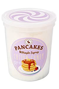 Pancakes & Maple Syrup Gourmet Flavored Cotton Candy – Unique Idea for Holidays, Birthdays, Gag Gifts, Party Favors