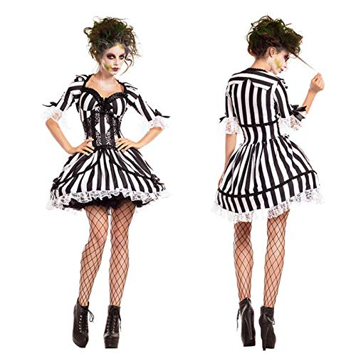 Simmia Halloween Costumes New Halloween Costume Demon Cosplay Zombie Nightclub Party Anime Cos Costume, 9021, L