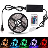 LED Strip Lights, Deppon 16.4ft Flexible Kit RGB Color Changing Water-proof 300 Units LED Rope Lights with 44 Key Remote Control for Bedroom, Dining Room