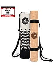 Secoroco Yogamat van kurk – antislip – 3 mm dik – veganistisch, duurzaam en recyclebaar – yogamat van kurk & rubber inclusief yogatas van linnen