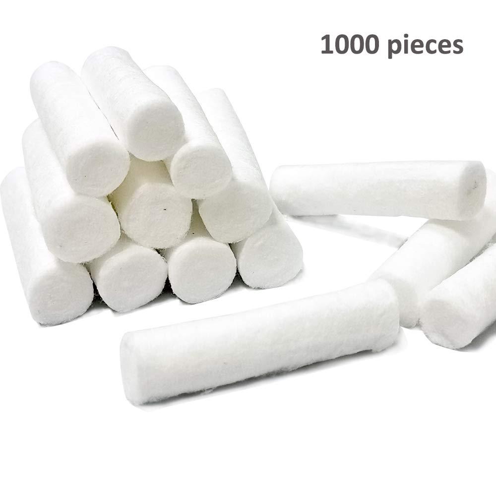 Dental Cotton Rolls, 1000 Piece Pack – Sterile Disposable Dental Supplies