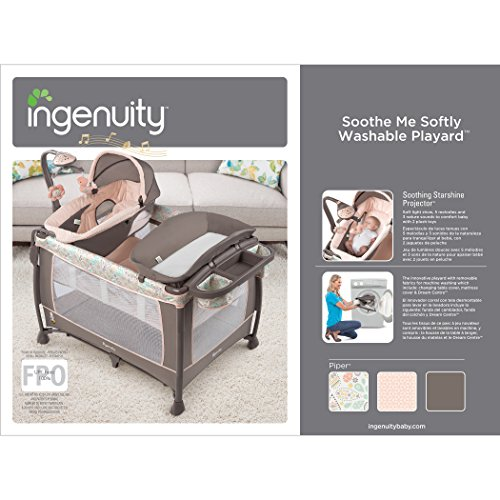 Ingenuity Soothe Me Softly Washable Playard- Piper by Ingenuity (Image #10)