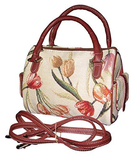 Tulip Purse - Signare 26525-Tulip Tulip Small Cross body Purse, Tapestry