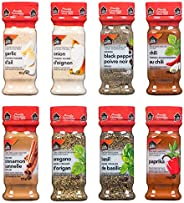 Club House, Quality Natural Herbs & Spices, Pantry Staples Pack, 8 Count (garlic powder, onion powder, chi