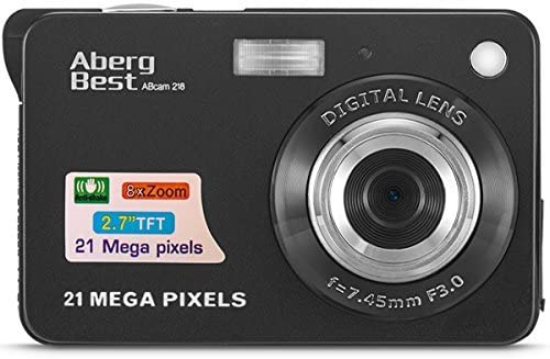 "AbergBest 21 Mega Pixels 2.7"" LCD Rechargeable HD Digital Camera,Video digital camera Digital Students cameras,Indoor Outdoor for Adult/Seniors/Kids (Black)"